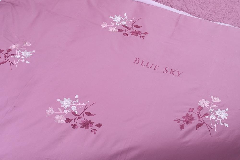 Bộ ga phủ thêu Blue Sky – BS M74